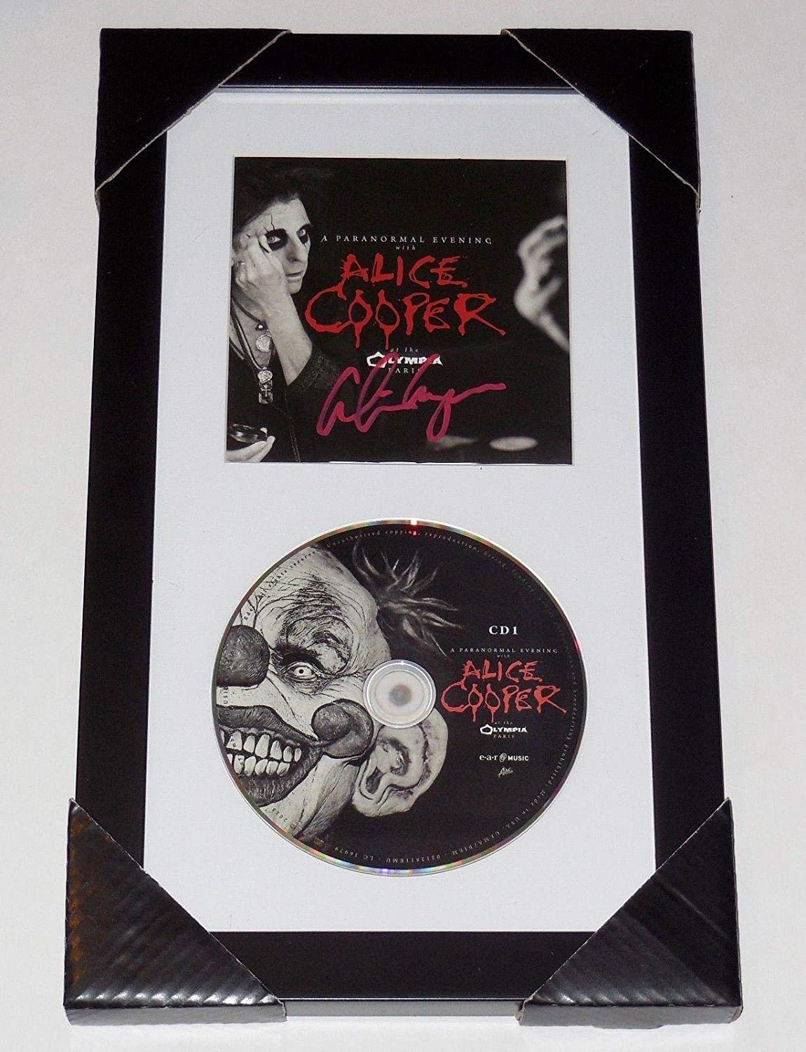 Alice Cooper Autographed Paranormal Live Cd Cover (framed & Matted) - W/Coa! - Music Albums