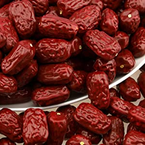 Gresorth 50pcs Fake Dried Jujube Decoration Artificial Date Fruit Home Kitchen Play Food Photography Props
