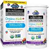 Garden of Life Dr. Formulated Probiotics Organic Kids+ Plus Vitamin C & D Chewables Tablets, Gluten, Dairy & Soy Free, Immune