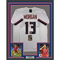 $499 » Framed Autographed/Signed Alex Morgan 33x42 White Soccer Team USA World Cup Jersey JSA COA