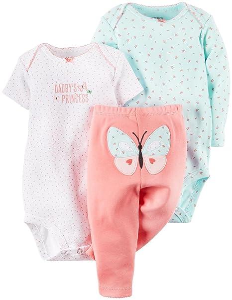 Carter 3 piezas MIX N MATCH bebé / niño Niñas Set
