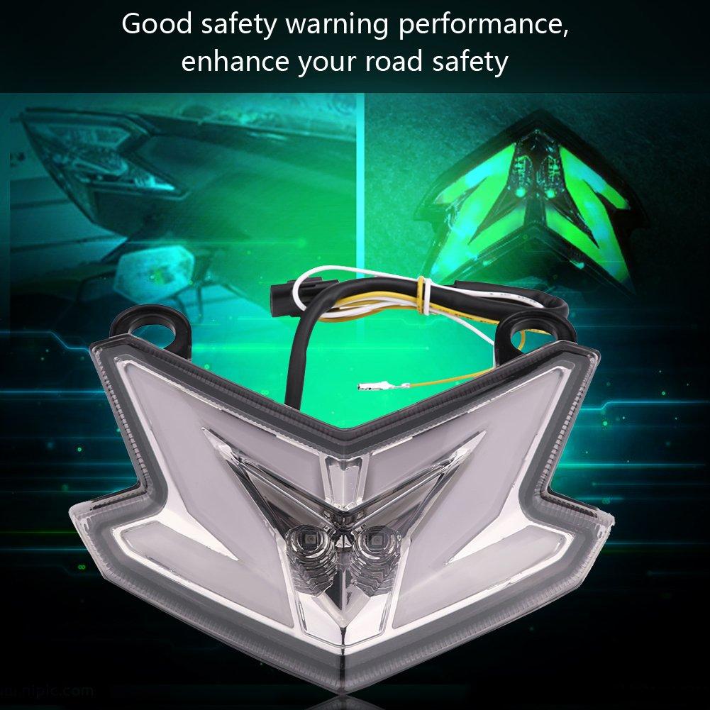 12V Luz trasera de la motocicleta luz de cruce para Z800 ZX6R Z125 2013-2016 L/ámpara de freno LED para motocicleta Luz de la cola