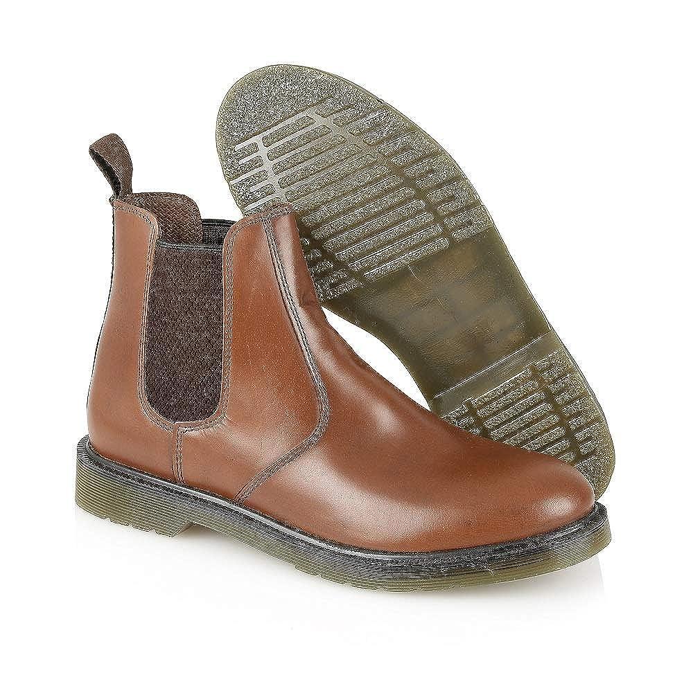 Oaktrak - Botines chelsea de cuero hombre, color marrón, talla 12 UK: Amazon.es: Zapatos y complementos
