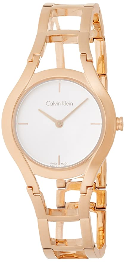 Amazon.com: Calvin Klein Class Ladies Watch Swiss Made Stainless Steel Rose Gold K6R23626: Watches