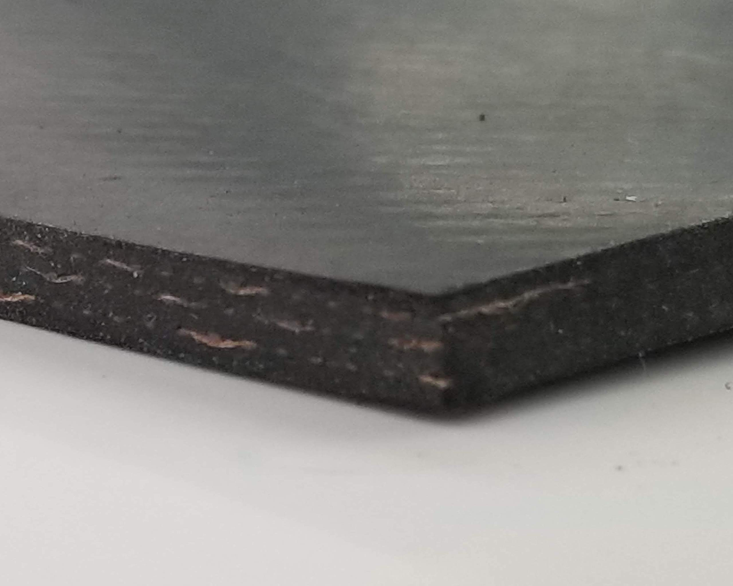 Rubber Sheet Warehouse .250'' (1/4'') Thick x 18'' Wide x 48'' Long -Cloth Inserted Neoprene Rubber Heavy Duty Strong Rubber to Tougher Projects