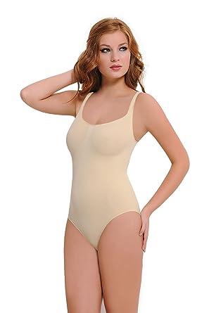 5c88b045d33b5 NBB Lingerie Women s Slimmer Seamless Body Girdle Bodysuit Shaper at ...