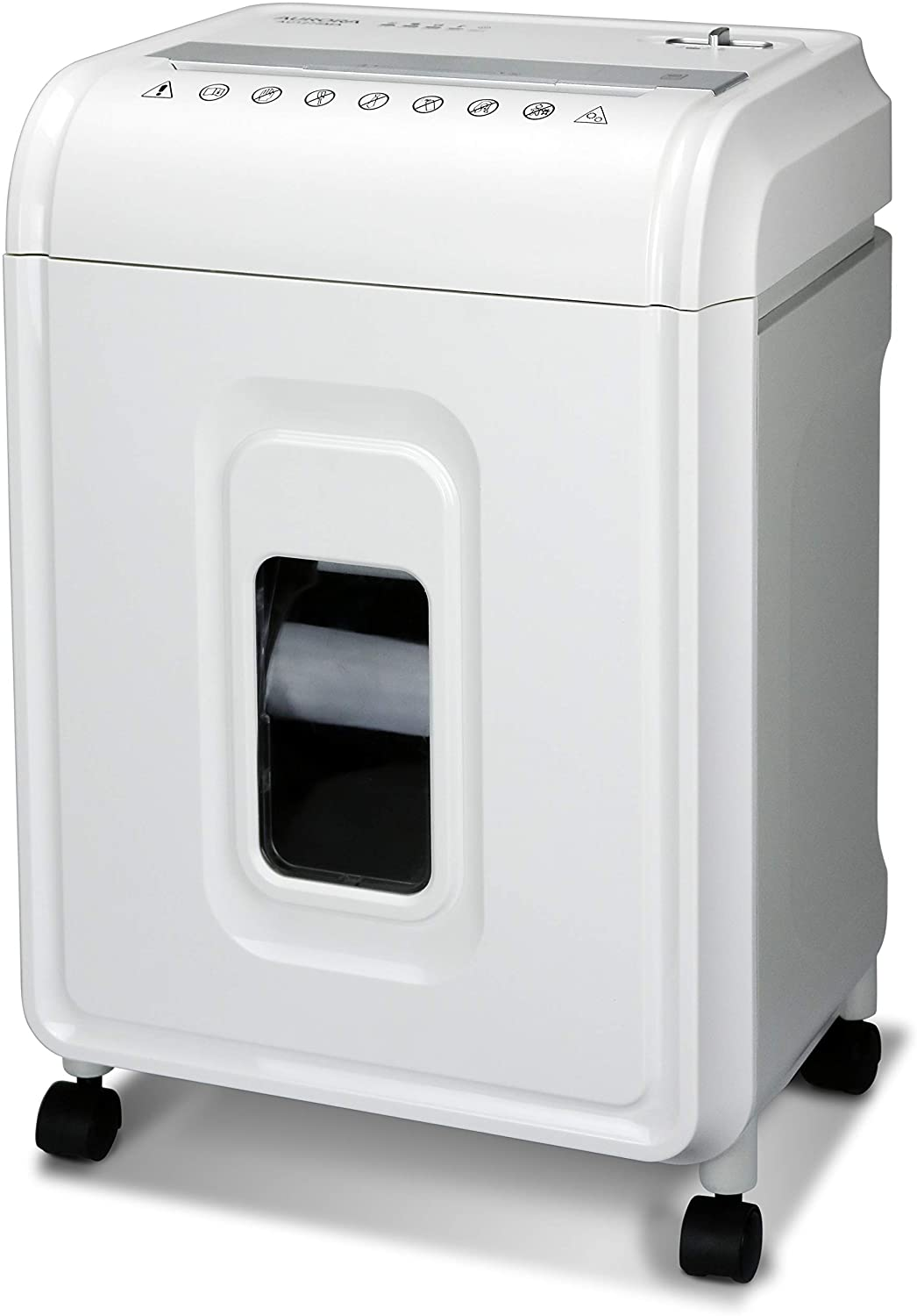 Aurora AU1275MA Professional Grade 12-Sheet Micro-Cut Paper and CD/Credit Card Shredder/ 60 Minutes Continuous Run Time, White/Gray