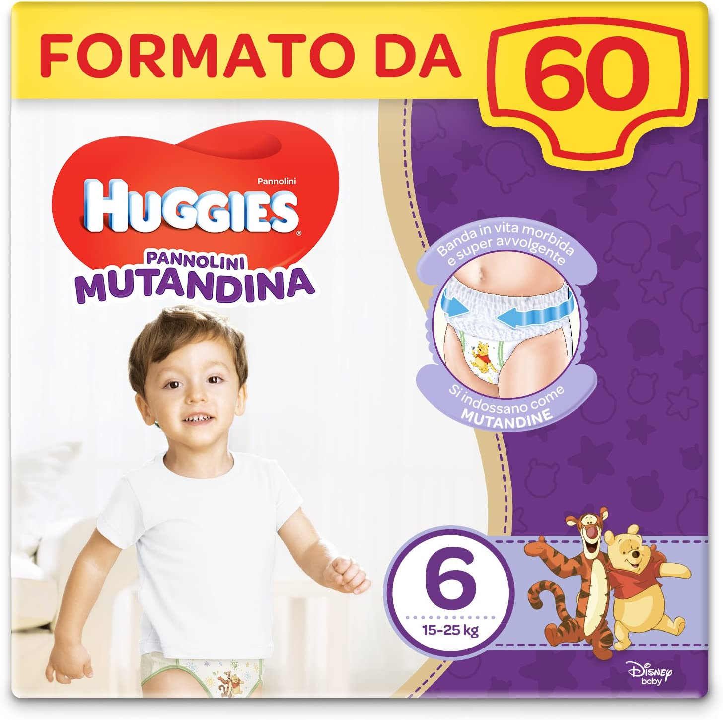 Huggies Nappy Panty 15-25 kg Size 6 2 Packs of 30 Pieces