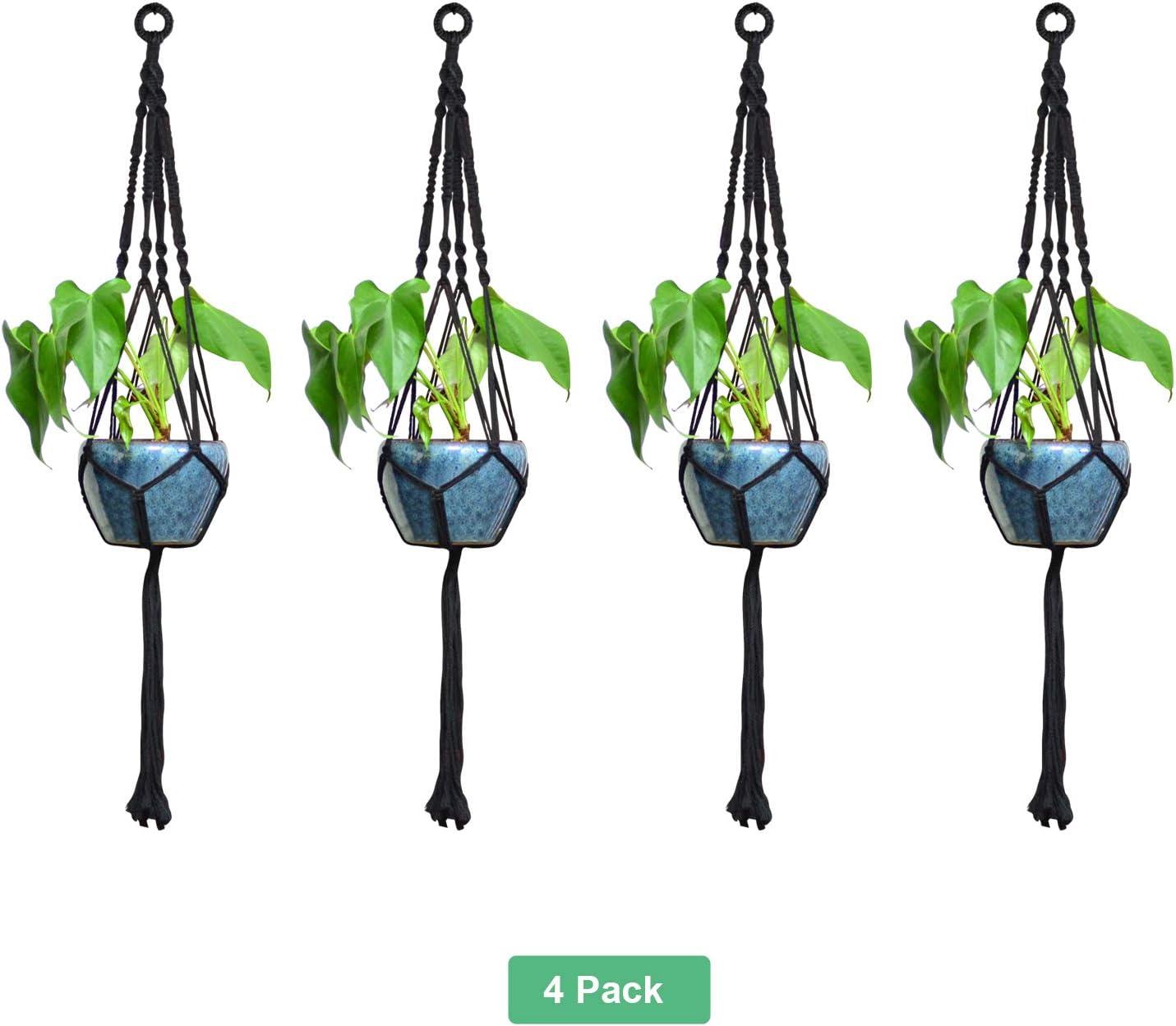 1 /& 2 /& 4 Pack Plante Cintre Macrame Plantes Cintres Plante Cintre Noir Int/érieur Plantes Ext/érieurs Plantes Home Decor 4 Pack