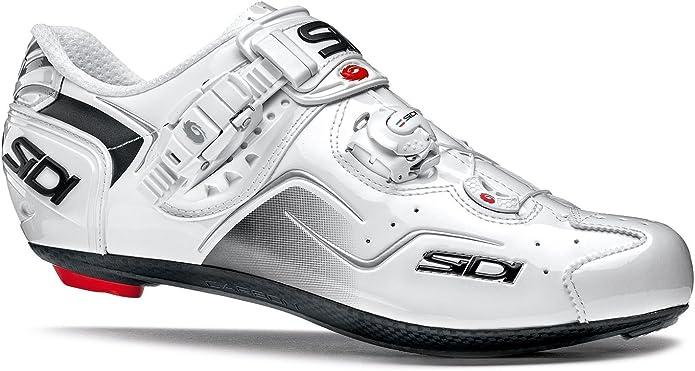 Zapatillas de Ciclismo Sidi Kaos Blanco-Blanco: Amazon.es: Zapatos ...