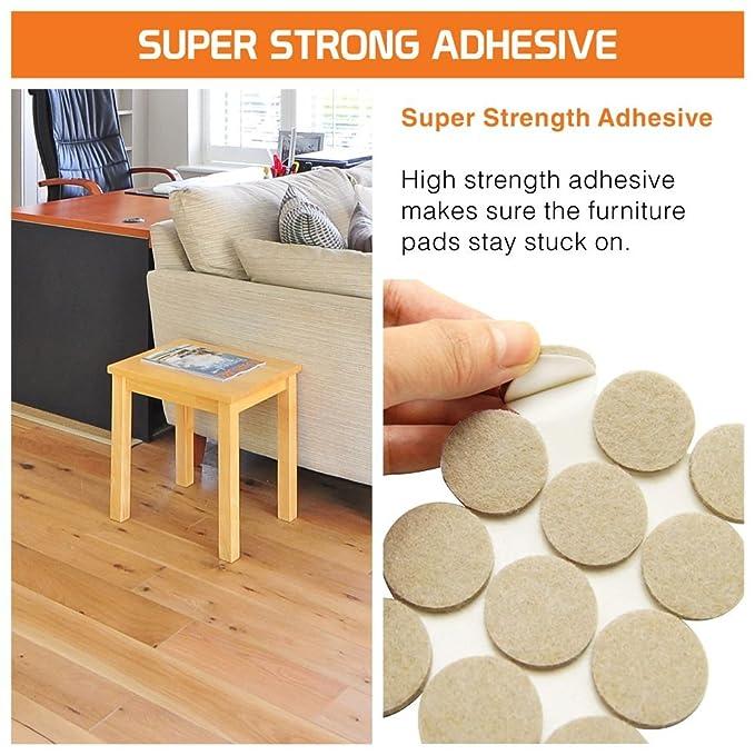 hynec Premium muebles almohadillas de fieltro (156 piezas) Auto Stick On Mixed Set Kit resistente para suelos de laminado de madera dura cultivada silla ...