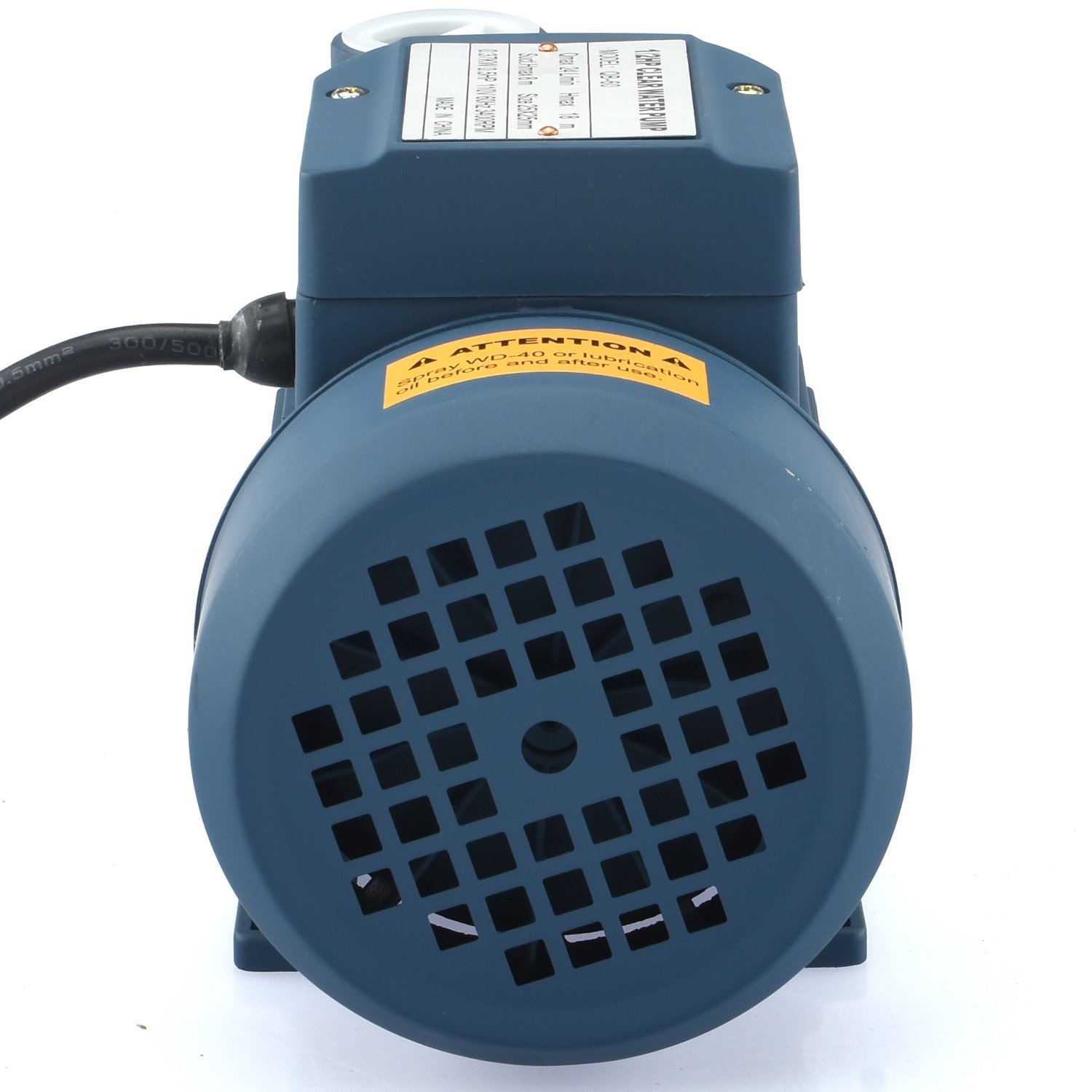Tooluxe 50635 Electric Centrifugal Clear Water Pump, 0.5 HP | Pools, Ponds, Irrigation, Garden, Sprinkling | 380 GPH by Tooluxe (Image #3)