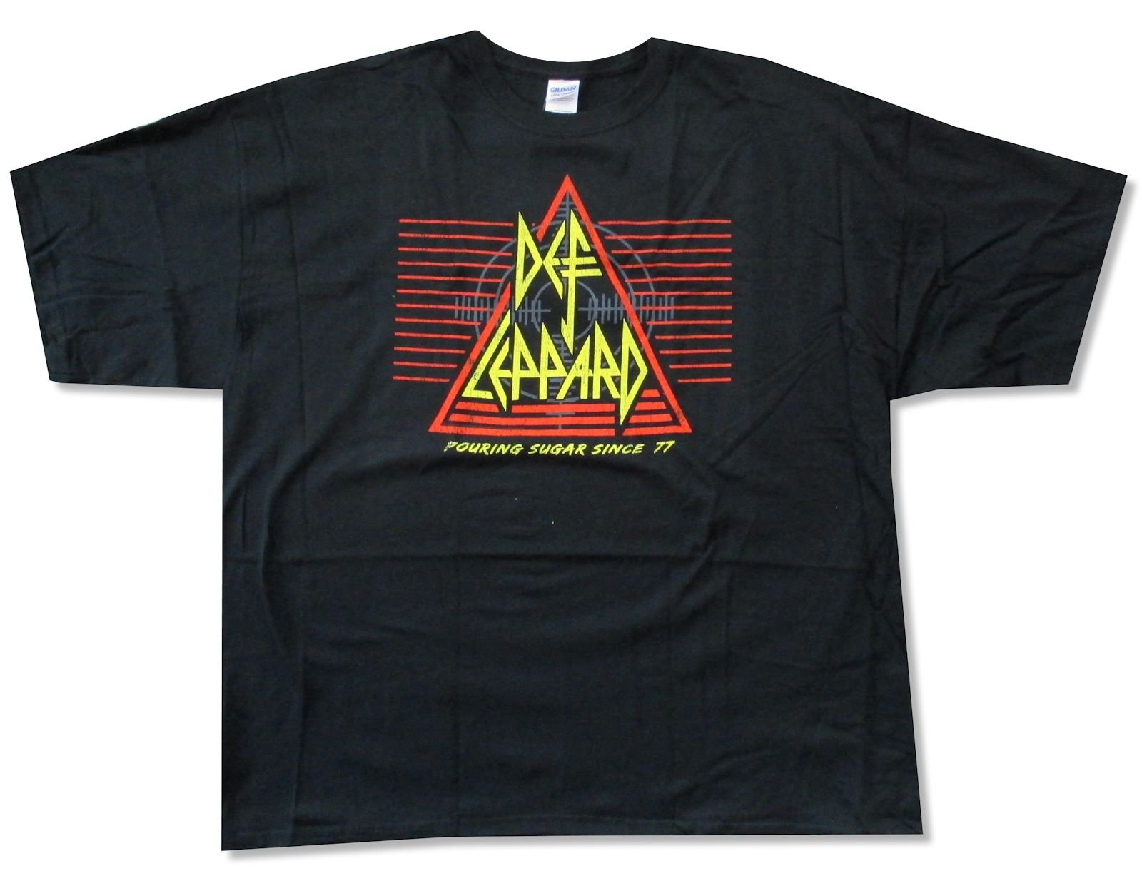 Adult Def Leppard Pouring Sugar Since 77 T Shirt 6784