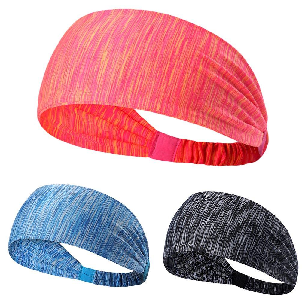 Tookang Unisex Stretch Dehnbar Sport Stirnband Schnell Trocknend Schweißbänder Kopf Feuchtigkeit Wicking Atmungsaktiv Rutschfest Haarband Headbands