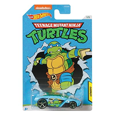 Hot Wheels TMNT Leonardo Rogue Hog 1/5, Blue: Toys & Games