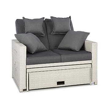 Lounge sofa rattan  Amazon.de: Blumfeldt Komfortzone • Gartensofa • Gartenliege ...