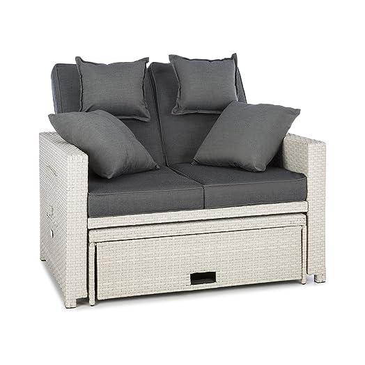 Lounge sofa rattan  Blumfeldt Komfortzone Rattan Lounge Sofa • Two-Seater • Polyrattan ...