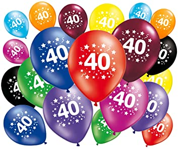 Lote de 20 globos cumpleaños 40 años