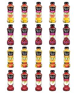 LUV BOX - Variety Minute Maid Juice Pack 12oz Plastic Bottle, 20ct.,Ruby Red Grapefruit Blend,Cranberry Apple Raspberry.,Cranberry Grape,Peach Mango