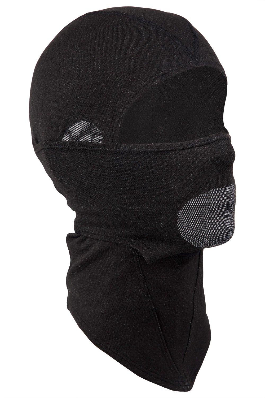 Mountain Warehouse Universal Balaclava - maschera di protezione leggera, mascherina di secchezza rapida del pattino, facili imballare, il calore supplementare Nero Medium/Large