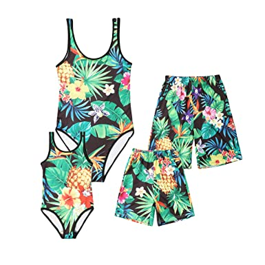 b92c56d52e Serios Family Matching Swimwear Cotton One Piece Beach Wear Sporty Monokini  for Women Men Boy and Girl: Amazon.in: Clothing & Accessories