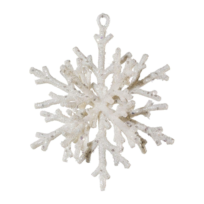 Deko-Schneeflocke in 3D-Optik Weihnachtsdeko in weiß