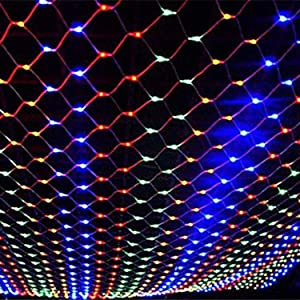 Led Net Lights Outdoor Waterproof Patio Garden Yard Fairy Lights String Battery Powered 8 Mode Curtain Window Wall Tree Decor(Color) (Color : Color, Size : 1.51.5M-110V)