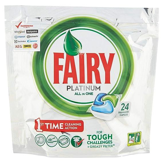 Cápsulas de Fairy para lavavajillas – Paquete de 24 unidades de 17,54 g cada una – Total: 421 g
