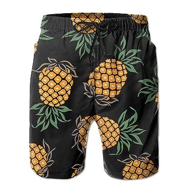 pineapple painting. MALAA Mens Pineapple Painting Pattern Summer Quick-drying Swim Trunks Beach Shorts Board Medium