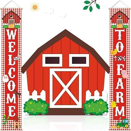 Amazon.com: Cartel para puerta de granja, diseño de animales ...