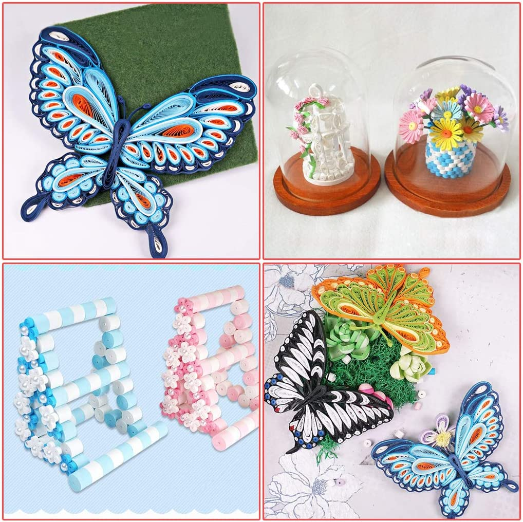 11 Pieces Quilling Tools MDLUU Paper Quilling Kit with 960 Strips Home Decoration Paper Width 5mm Birthday Gift Quilling Supplies Kit for DIY Learning Class