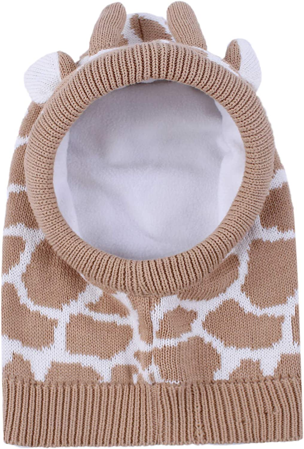 Hawiton Girls Boys Warm Knitted Beanie Hat Baby Winter Wool Caps and Neckerchief Scarf Set