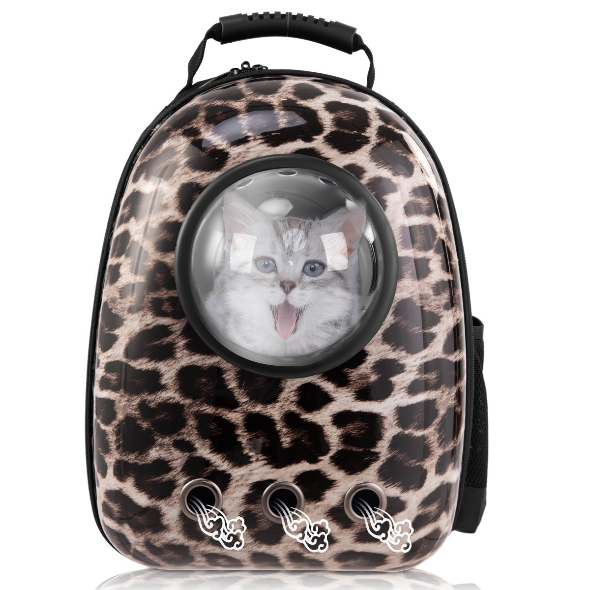 Leopard Giantex Astronaut Pet Cat Dog Puppy Carrier Travel Bag Space Capsule Backpack Breathable (Leopard)