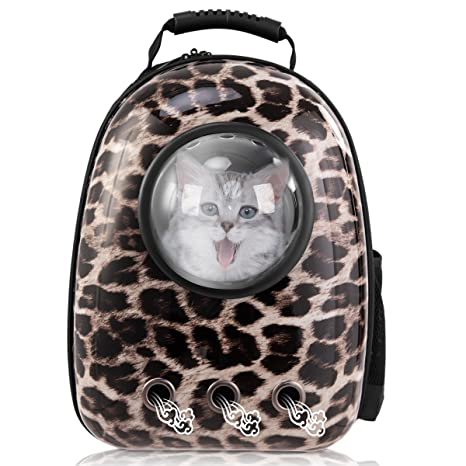 ca527db14d70 Giantex Astronaut Pet Cat Dog Puppy Carrier Travel Bag Space Capsule  Backpack Breathable (Leopard)