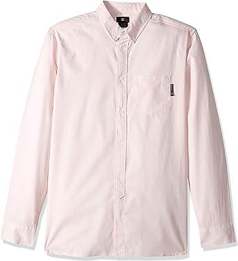 DC Mens Classic Oxford Light Long Sleeve Button Down Shirt ...