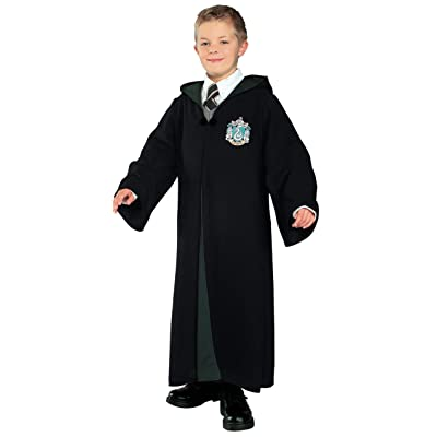 Rubie's Harry Potter Deluxe Slytherin Robe Child Costume, Large: Toys & Games