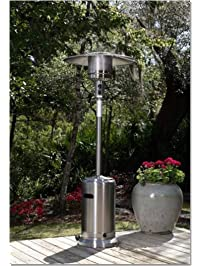 Fire Sense 46,000 BTU Stainless Steel [XL Series] Commercial Patio Heater  With Wheels