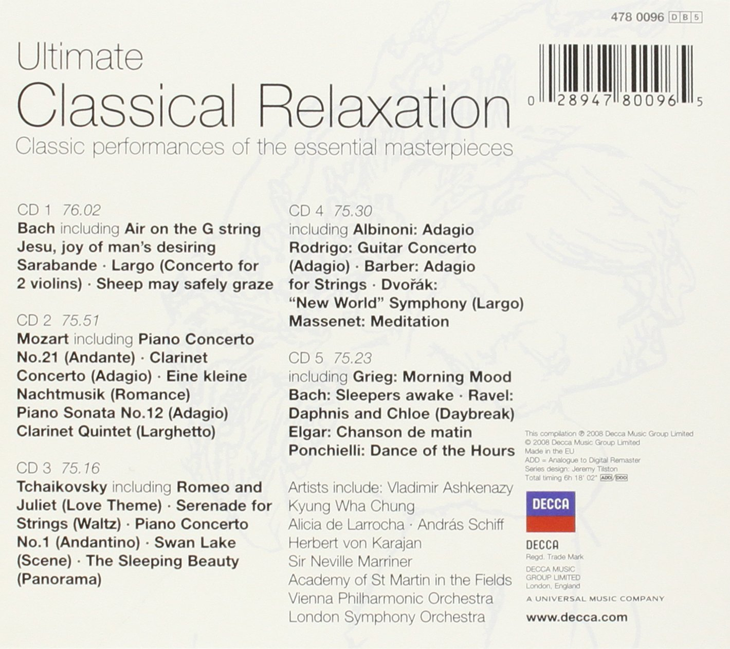 Ultimate Classical Relaxation [5 CD] by Ultimate