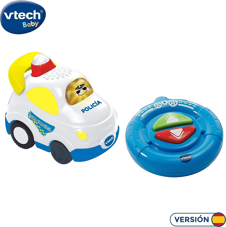 VTech- Izan el policía TutTut Bólidos radiocontrol Coche teledirigido por Control Remoto con Voz, música y Efectos de Sonido, Compatible con el Resto de la colección (80-180367) (3480-180367)
