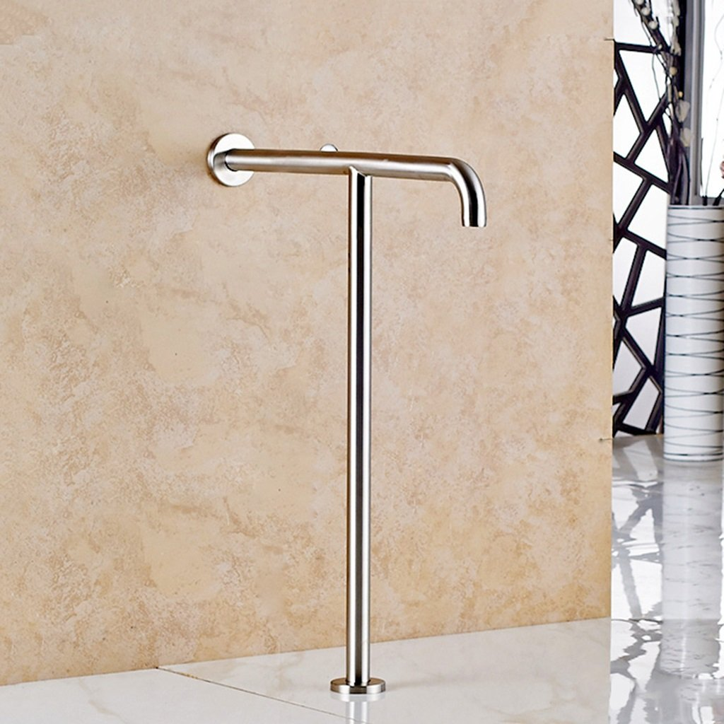 Shower aids Accessibility Toilet Grab Bar Bathroom Safety Handrail T-type Handle for Elderly Disabled Pregnant Women Stainless Steel 55cm70cm