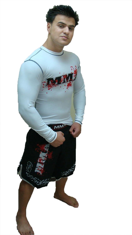 Rash Guard Color White Full Sleeve Size 3XS MMA LOGO