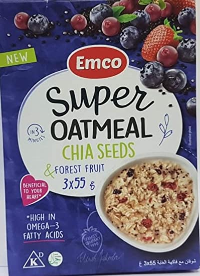 EMCO Super Oatmeal, Chia Seeds & Forest Fruit, 165 gm: Buy Online at Best Price in UAE - Amazon.ae