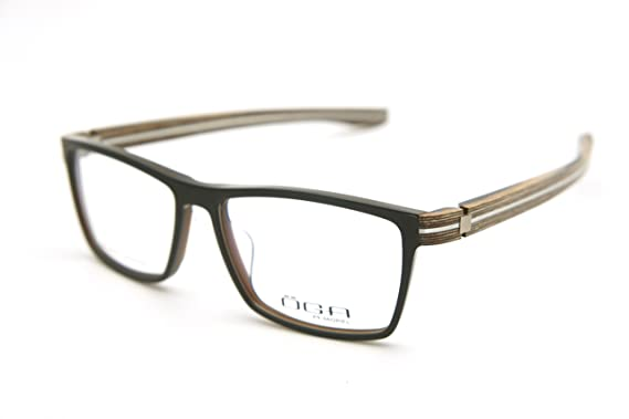 be482ccd6e OGA MOREL Eyeglasses France Piltra 7789 7789O (matte black w/ brown wood  temple,