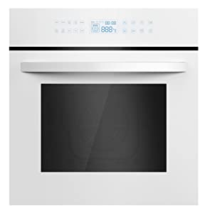 "Empava 24"" Tempered Glass LED Digital Touch Controls 10 Cooking Style Electric Built-In Single Wall Oven EMPV-24WOC12-LTL"