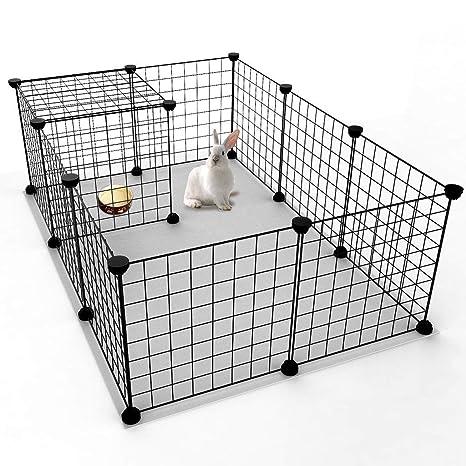 Tiunyeah - Jaula de Metal expandible para Conejo, Conejo, Cachorro ...