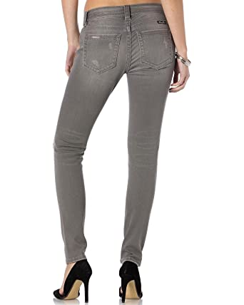 f47835d298a07 Amazon.com: Miss Me Women's Get Ripped Grey Skinny Jeans - Ms5151s262 Lg  12: Clothing