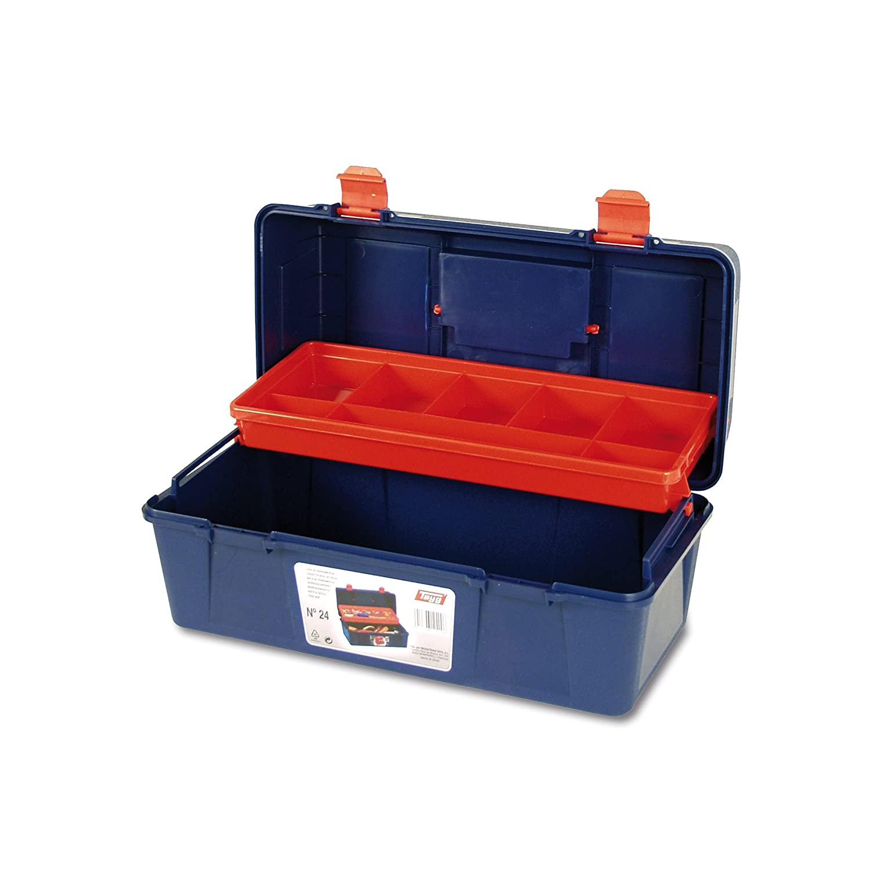 negro Tayg Caja herramientas pl/ástico n 400 X 206 X 188 mm 25