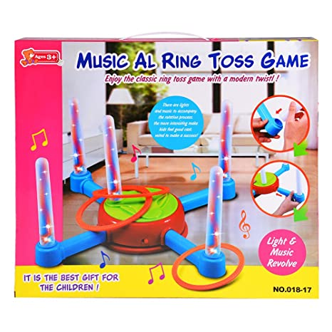 amazon com ocamo electric ring toss games for kids outdoor toys