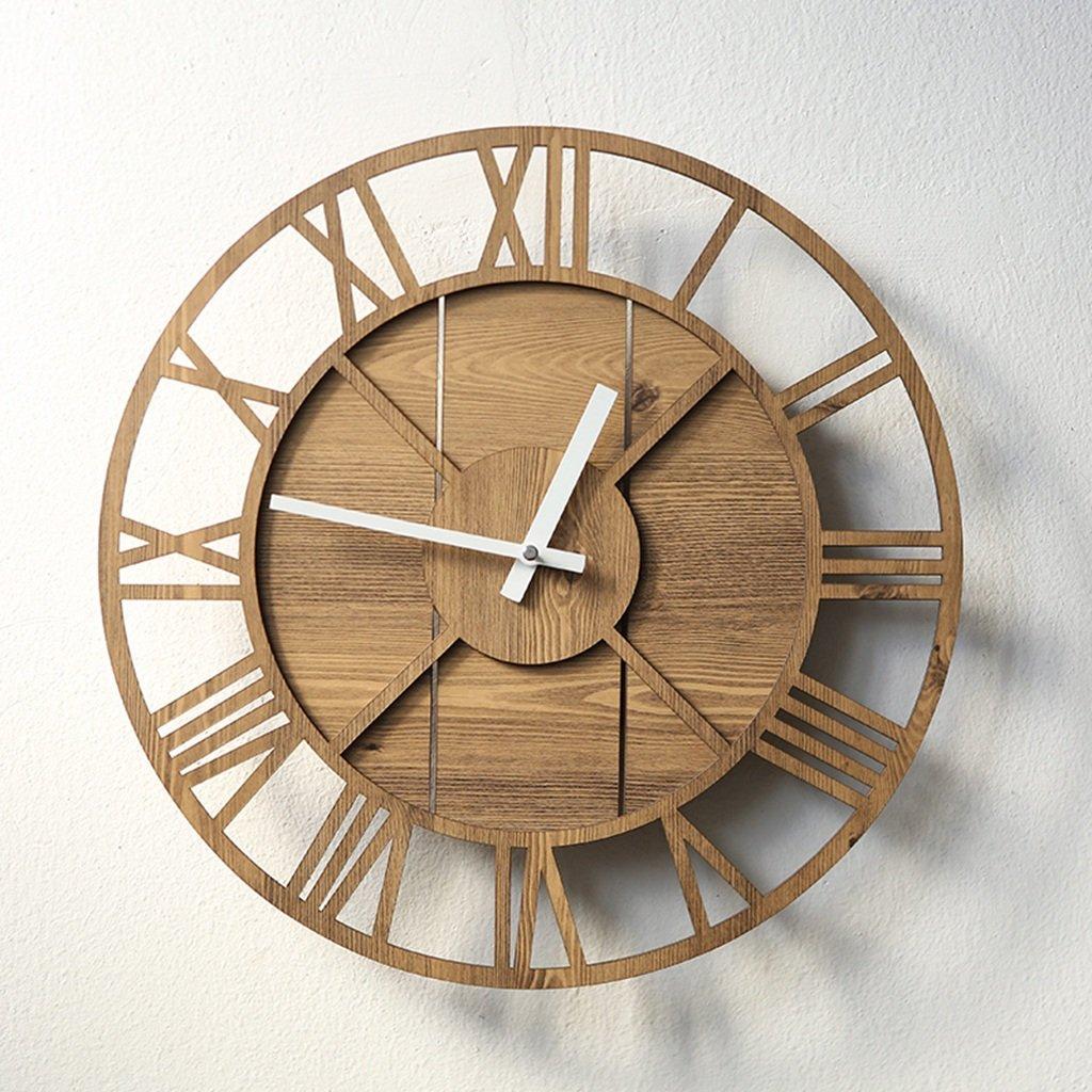 静かな読書室の壁時計、書店コーヒーショップ入学教室オフィスホテルフラワーショップベッドルームリビングルームパティオウォールクロック39.4 * 39.4CM (色 : イエロー いえろ゜) B07DJ9P29Kイエロー いえろ゜