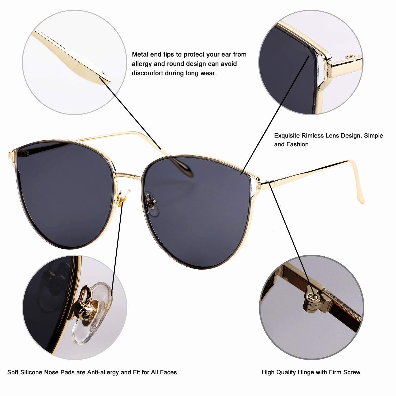 Amazon.com: Gafas de sol de gran tamaño para mujer, gafas de ...